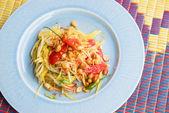 Znanych tajskie jedzenie, sałatka z papai — Zdjęcie stockowe