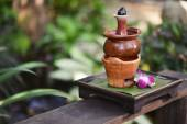 Aromatherapy hot oil in pottery — Foto de Stock