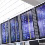 HONG KONG, CHINA - JUN 08: Flight schedule on board of Hongkong — Stock Photo #76739457