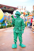 Green Animation Soldier in Toy Story in Disneyland,Hong Kong Disneyland — Stock Photo