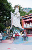 HONG KONG - JUN 12, Repulse Bay, is a bay in the southern part of Hong Kong Island and Kwan Yin Temple Shrine is a Taoist shrine at the southeastern end of Repulse Bay on June 12, 2015. — Stock Photo