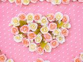 Aritificial Flora as heart shape — Stock Photo