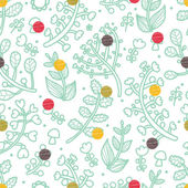Autumn flowers seamless pattern — Stock Vector