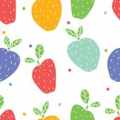 Printcolorful retro apples pattern — Stock Vector