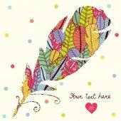 Cute colorful postcard — Stock Vector