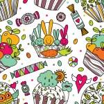 Cute cupcake — Stock Vector #57167161