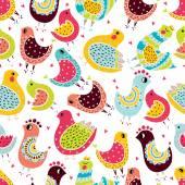 Cute birds. — Stock Vector