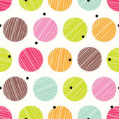 Cute polka dot. — Stock Vector