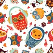 Owls seamless pattern. — Stock Vector #59101615