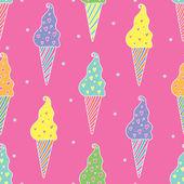 Love ice cream pattern — Stock Vector