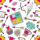 Valentine seamless pattern. — 图库矢量图片
