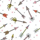 Arrows of love pattern — Stock Vector