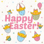 Happy Easter postcard — Stock Vector