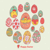 Happy Easter pattern — Stok Vektör