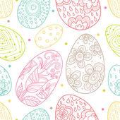 Coloridos huevos de pascua — Vector de stock