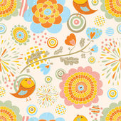 PrintCute spring seamless pattern — Stock Vector