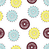 Seamless pattern with flowers motif. — Stock Vector