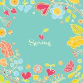 Spring floral card — Stock Vector