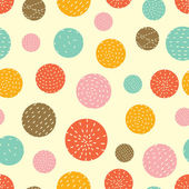 Cartoon polka dots background — Stock Vector