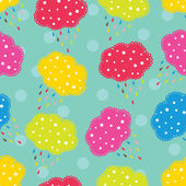 Colorful spring clouds pattern. — Stock vektor