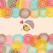 Cute love postcard — Stock Vector