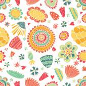 Spring flower seamless pattern. — Stock Vector