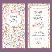 Wedding card invitation template — Stock Vector