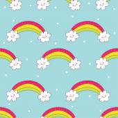 Seamless pattern with rainbow. — Stock Vector