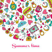 Summer time  postcard. — Stock Vector