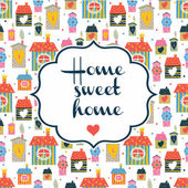 Home sweet home inscription — Stock Vector