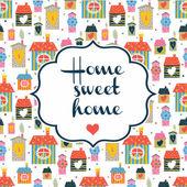 Home sweet home inscriptie — Stockvector