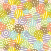 Pastel polka dot seamless pattern — Stock Vector