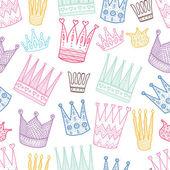 Princess crown seamless pattern — Stock Vector