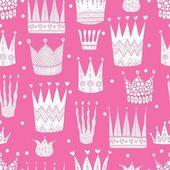 Pink princess  postcard — Stock Vector