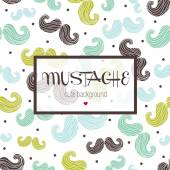 Mustache seamless pattern — Stock Vector