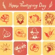 Happy Thanksgiving Day icons — Stock Vector #55556053
