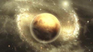 Nebulae space scene — Stock Video