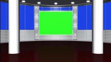 Virtual studio background - green screen — Stockvideo
