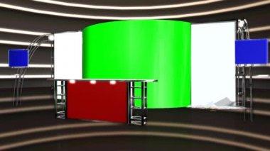 VirtualStudio - glass display shatters - background video — Stock Video