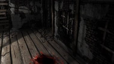 Creepy horror house room - dolly shoot — Stock Video