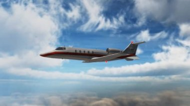 Private corporate jet - luxury corporate airplane - learjet — Stock Video