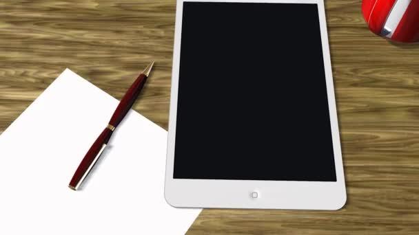 Tablet PC Pad Green Screen tracking shot - Advertisement Presentation — Vidéo