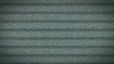 Television Tv Screen White Noise Static stripes — Stock Video