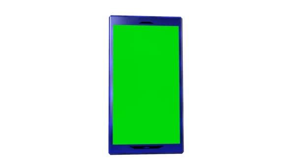 Pantalla de smartphone verde Anuncio presentación comercio — Vídeo de stock