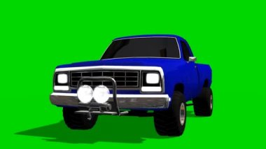 PickUp Truck Car driving animation - green screen — Wideo stockowe