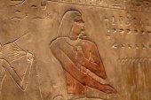Egyptian stone relief — Stock Photo
