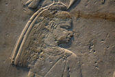 Egyptian stone relief — 图库照片