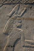 Египетский каменный барельеф — Стоковое фото