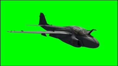 Jet Grumann A-6 Intruder Aircraft — Stock Video