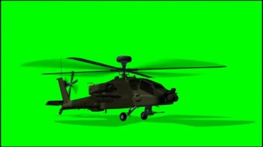 Armed Helicopter Boeing AH-64 Apache — Stock Video